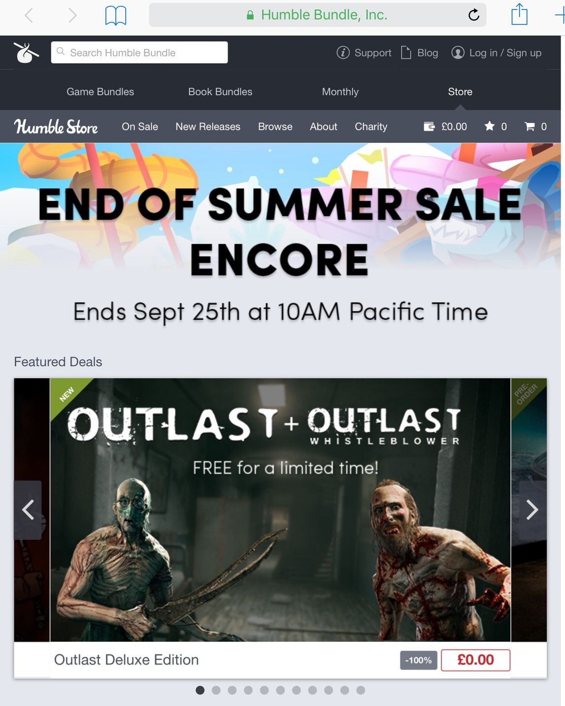 OUTLAST FREE FOR A LIMITED TIME! (PC STEAM) get yours @ humblebundle.com - meme