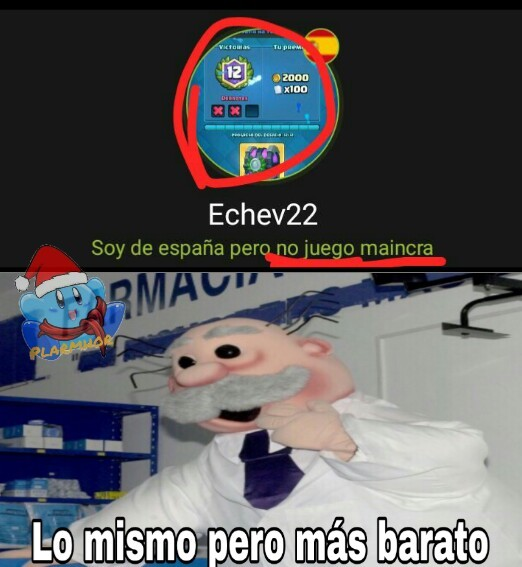 Maincra y CR - meme