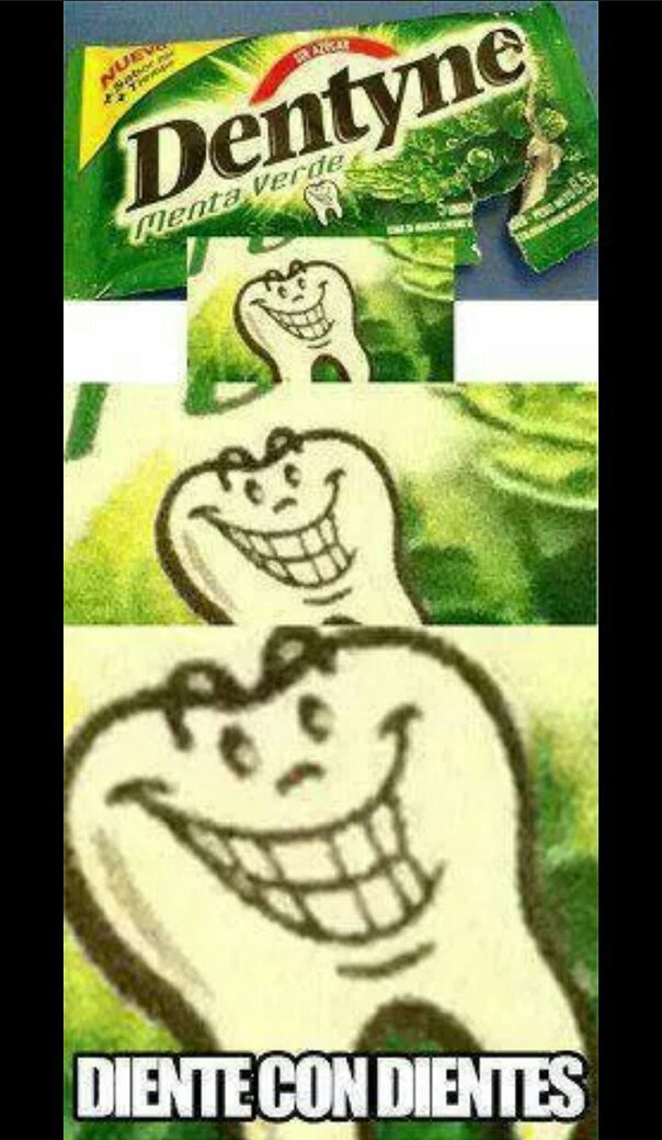 Diente con dientes - meme