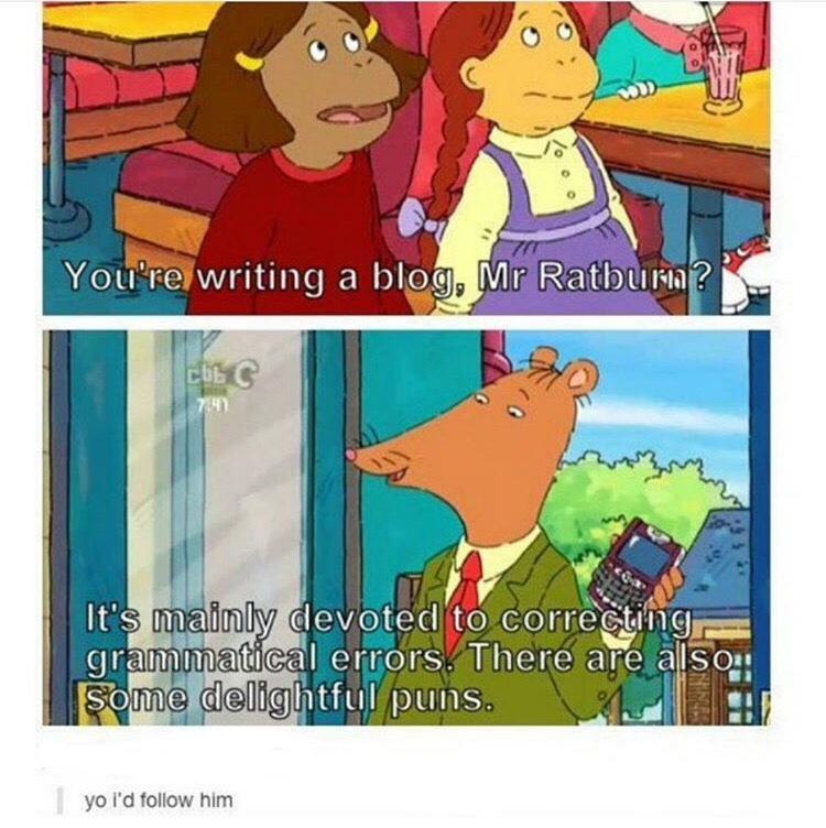 Mr. Ratburn is a chill teacher - meme