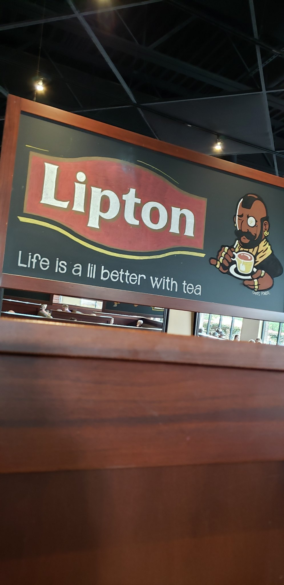 I pitty the fool that dont drink my tea. - meme