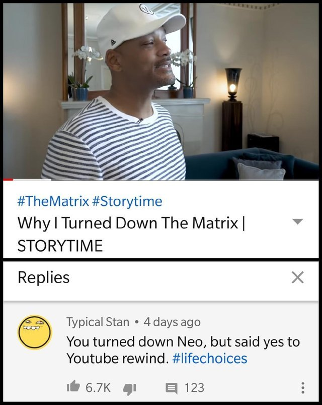 Why Will Smith turned down the Matrix - meme