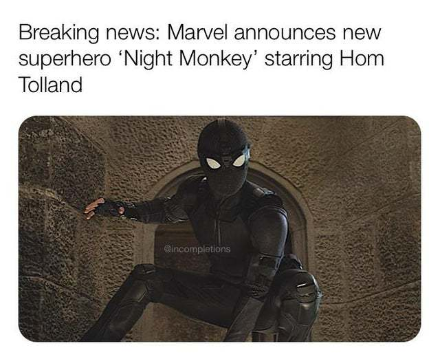 Marvel announces new superhero Night Monkey, starring Hom Tolland - meme