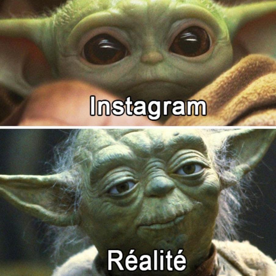 Moche en réalité, tu es - meme