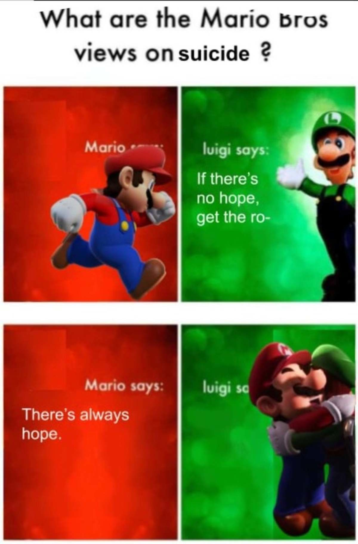 I need a Mario - meme
