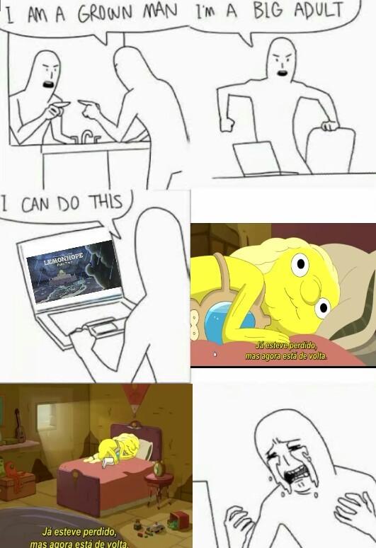 só de ver isso me faz ter mais saudade desse desenho ;-;/ eu já chorei de vdd nessa cena - meme