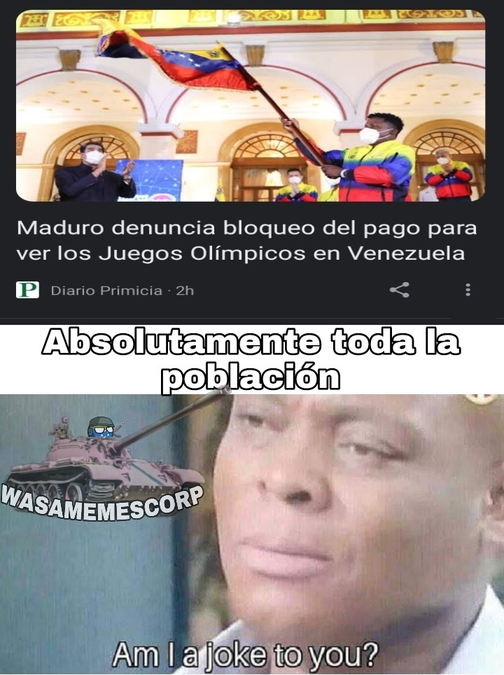 Obvio, para que conseguir Vacunas, medicina o comida si podemos ver los olímpicos - meme