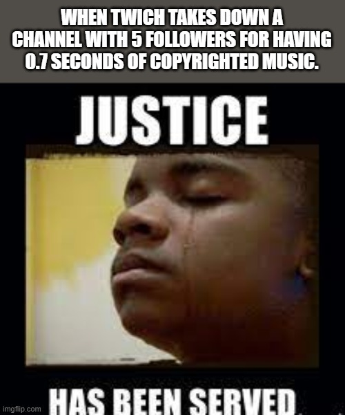 Justice is best served cold - meme