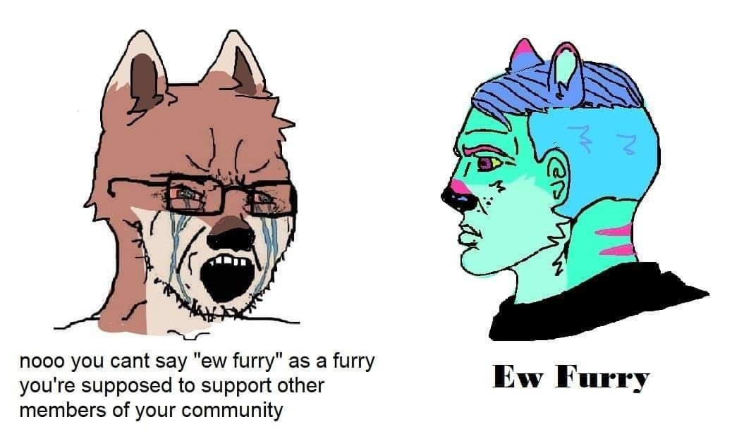 Ew furries - meme