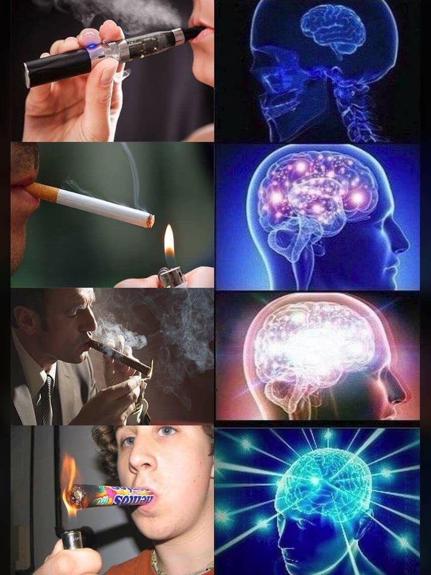 Title smokes Mentos - meme