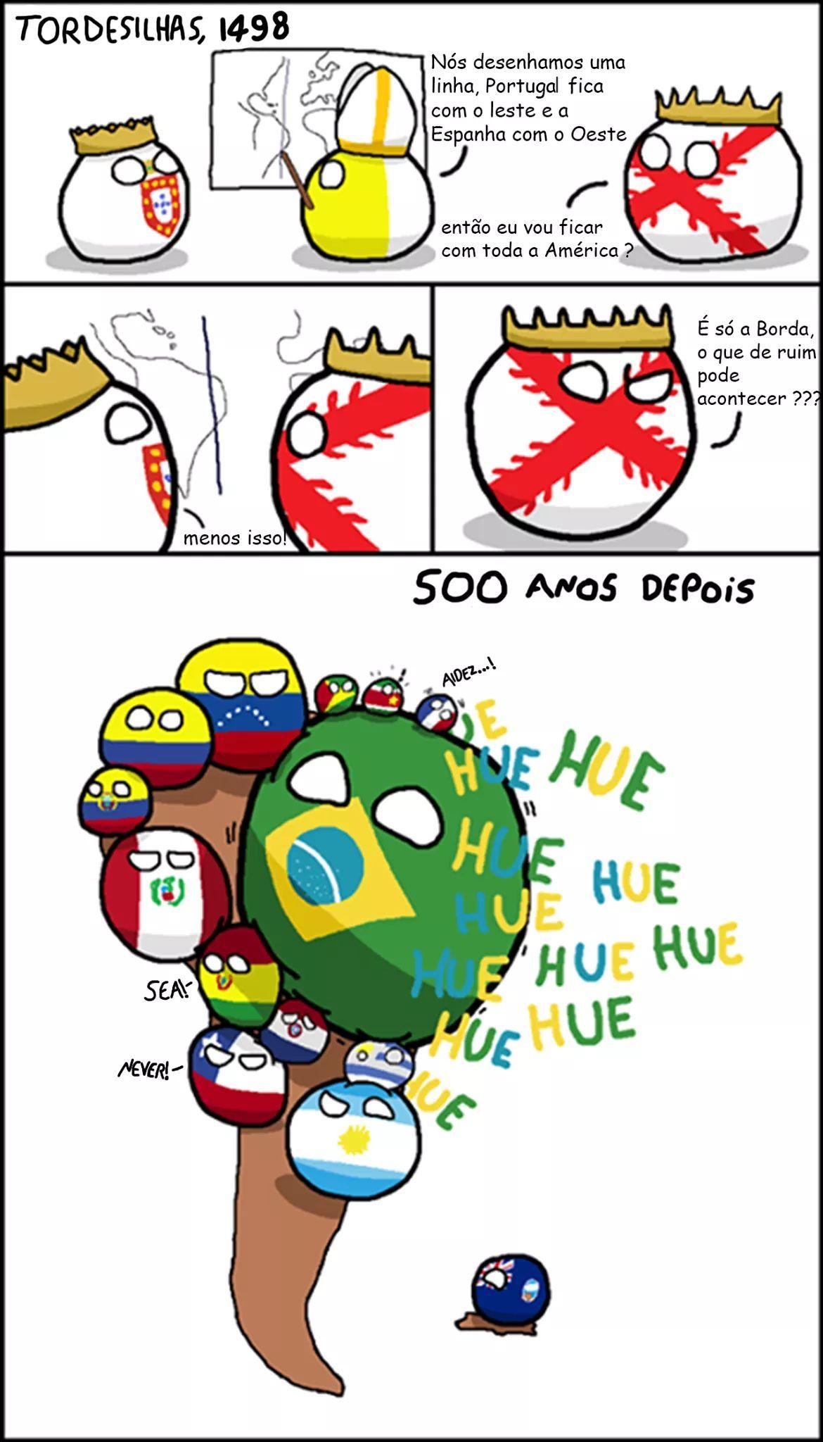 Tirinha retirada dá página BrasilBall - meme