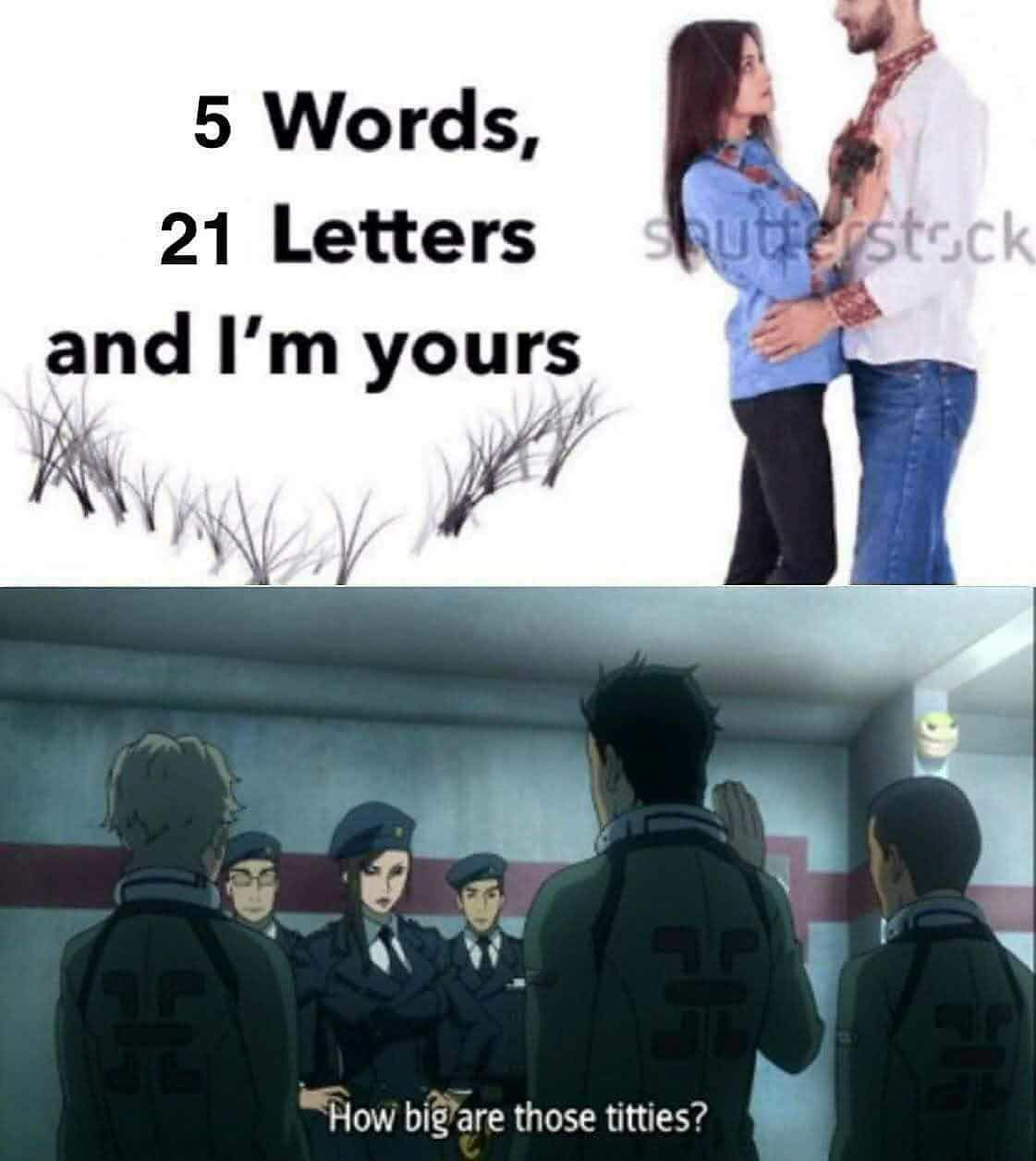 She didnt say what letters - meme