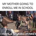 Moo I'm a donkey