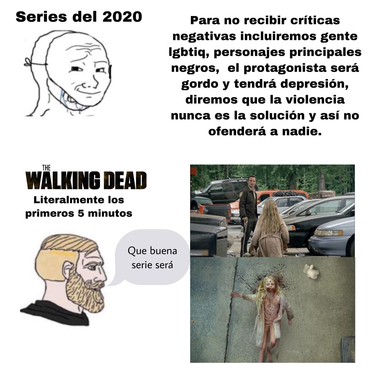 Re casual ir matando niñas zombie por ahí - meme