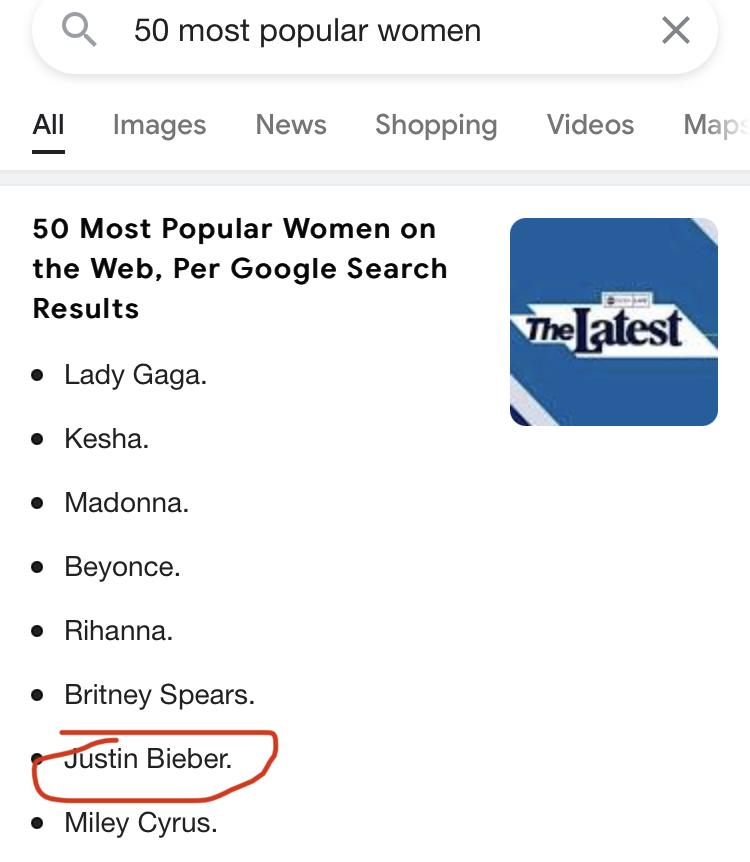 Justin Bieber's a pussy - meme