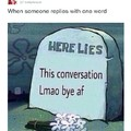 One word replies