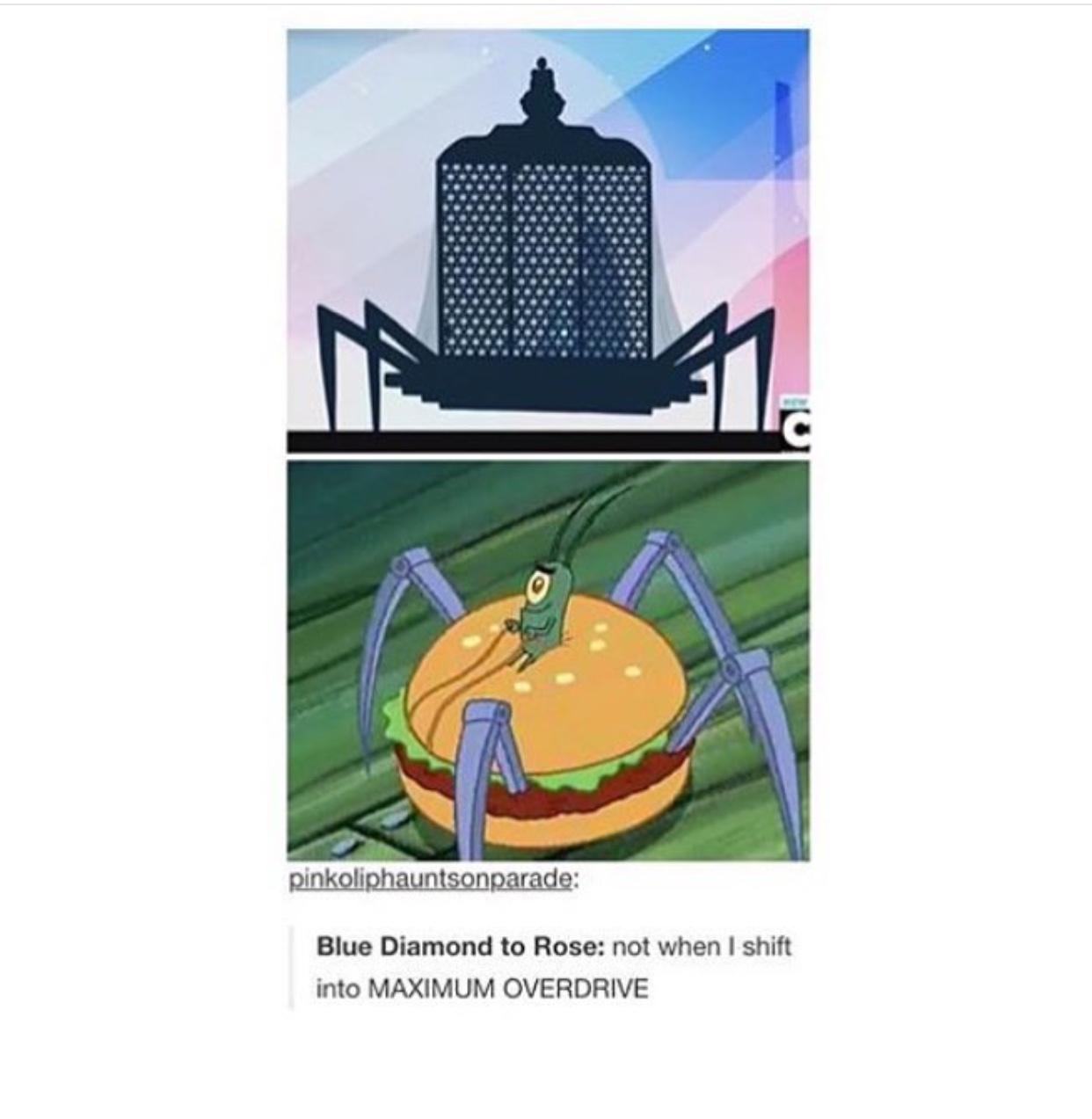 plankton is blue Diamond - meme