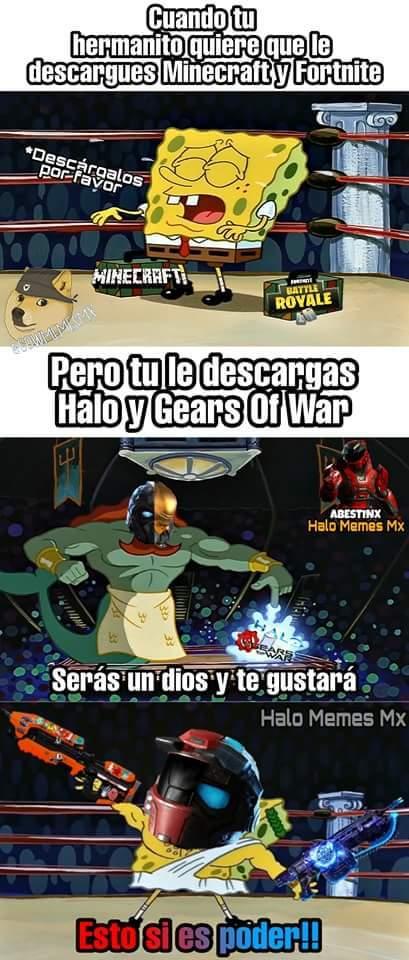 Gears y Halo - meme