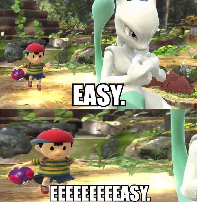 Quand tu vois un mewtwo shiny par hazard - meme