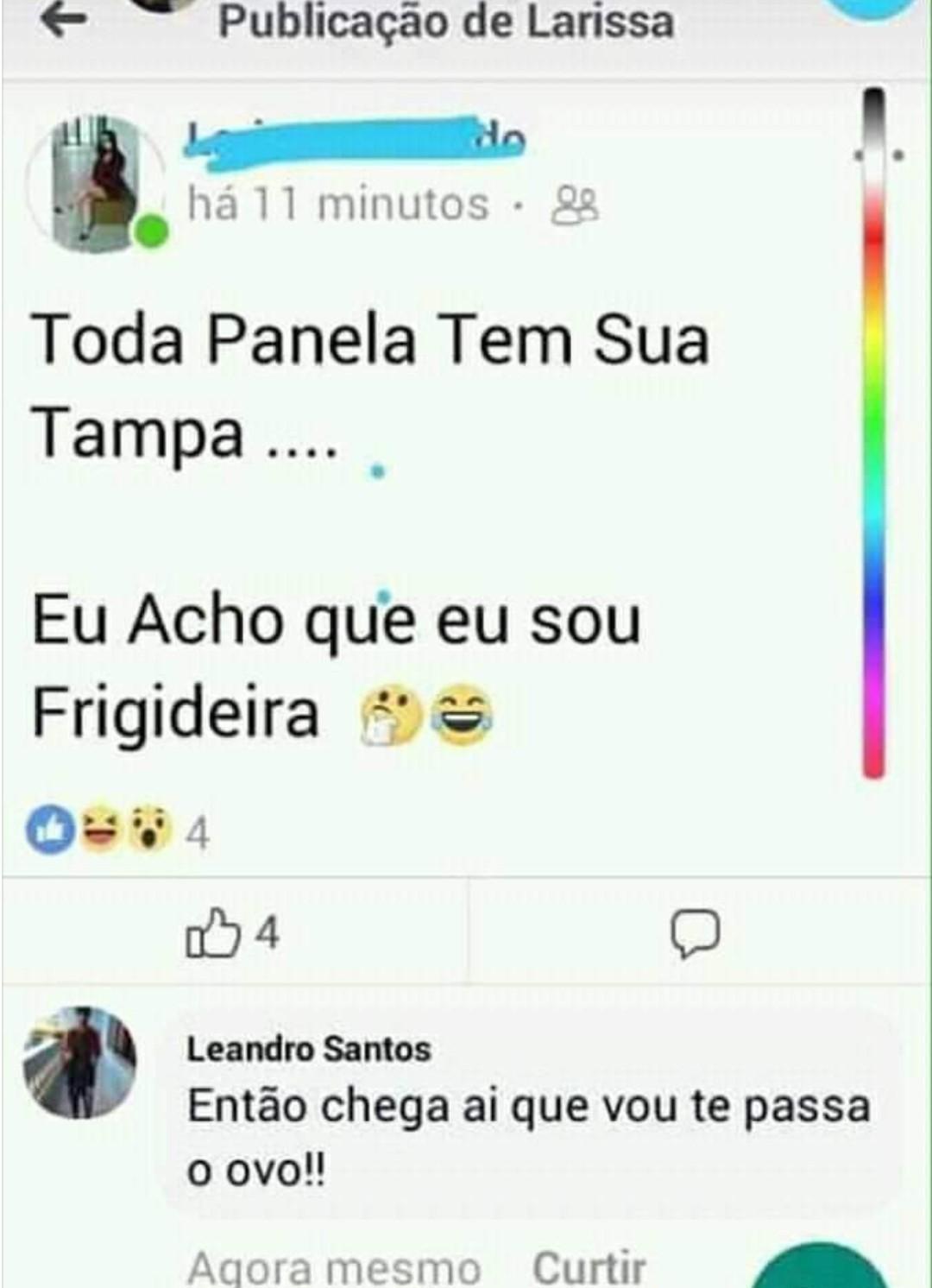 Leandro não perde tempo - meme