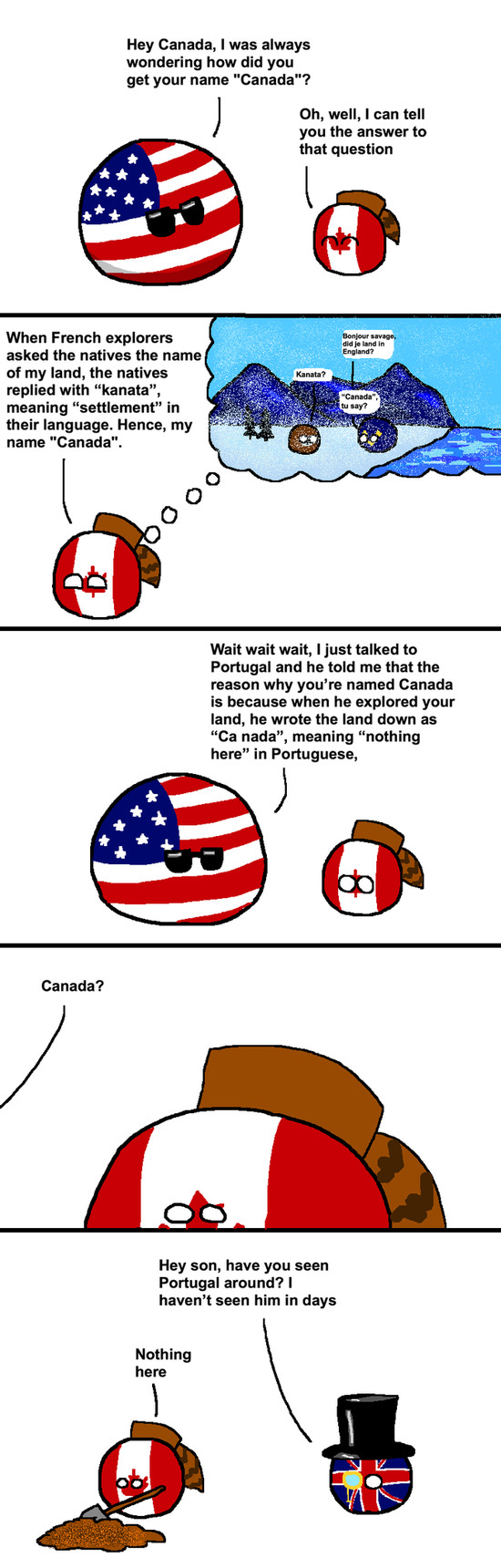 How Canada got its name - meme