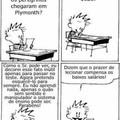 Calvin ficou putasso por ser usado milhares de vezes nas provas de português e decidiu revidar