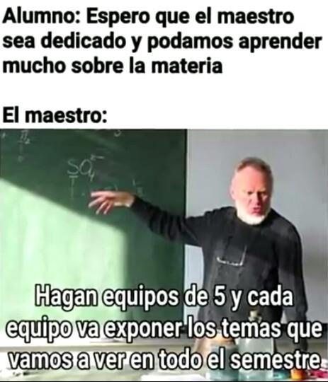 Yo de profesor - meme