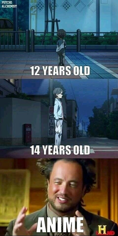 Lógica de animes - meme
