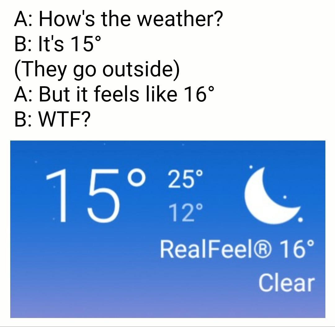 Fuckin' weather app - meme