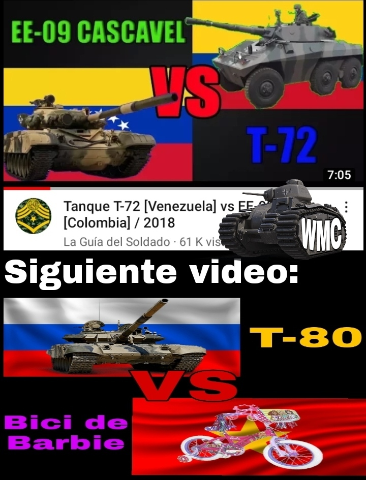 No sé si saben mucho de tanques pero es recontra idiota comparar un tanque pesado con un vehículo blindado pequeño que - meme