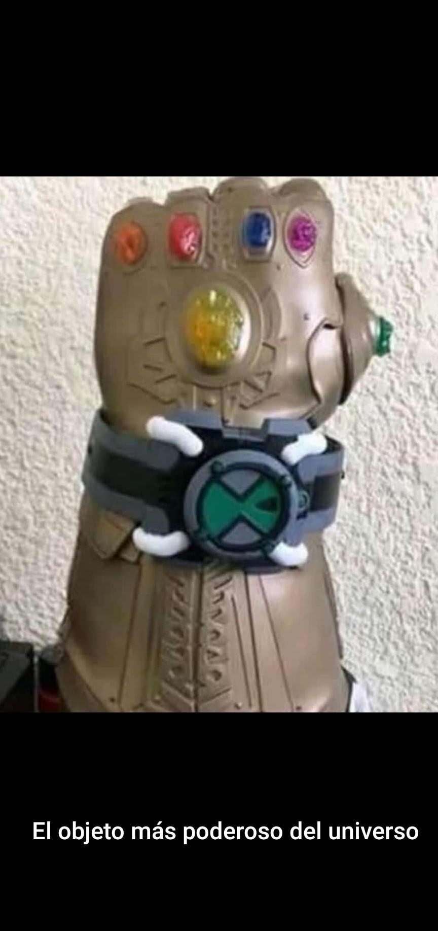 Imagínense... materia gris con ese guante XD - meme