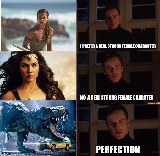 Strong female characters - meme