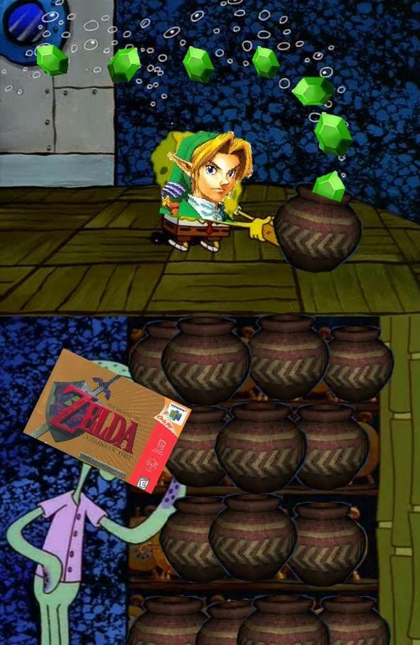 Vamos, Link, ¡solo te faltan 5482 jarrones! - meme