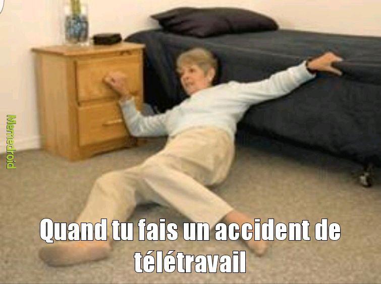 Accident télétravail - meme