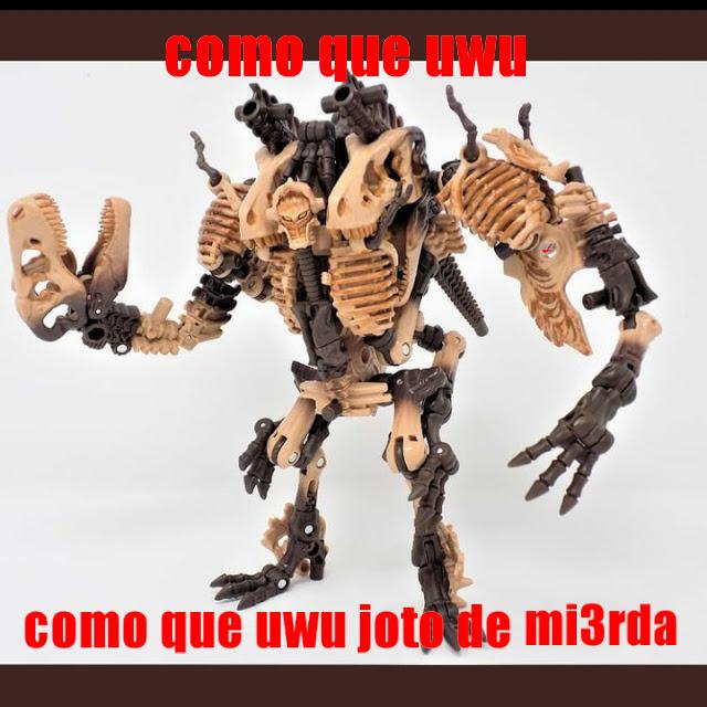 Un kpo el Paleotrex... ¿Así se dice? Ay no sé, me lo robé de un canal de youtube de Transformers, no sé si alguien ya lo ha hecho. - meme