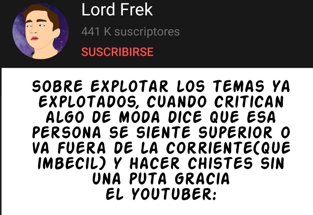 Mierda de youtuber - meme