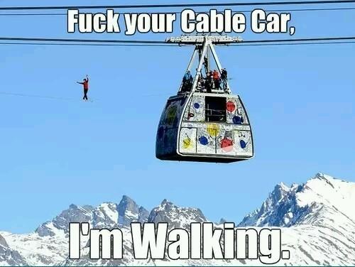 Title likes cable cars - meme