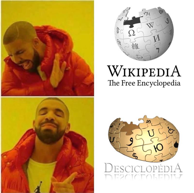 Hail desciclopédia - meme