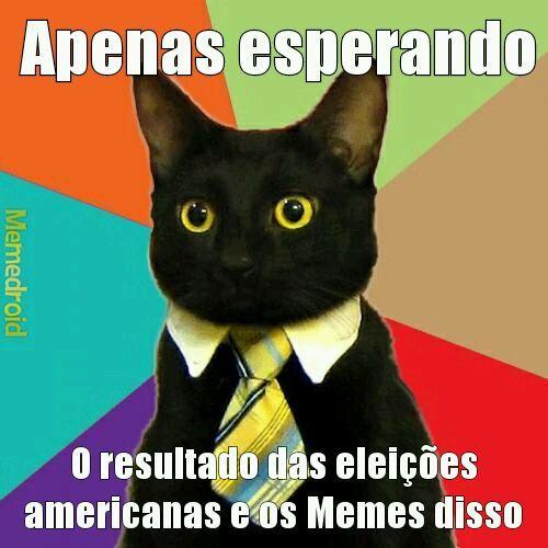 Pra quem n entender : hj é a eleição nos EUA - meme