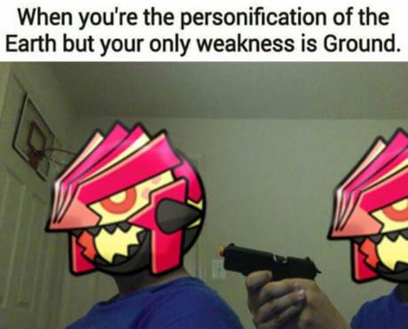 Groudon not happy - meme
