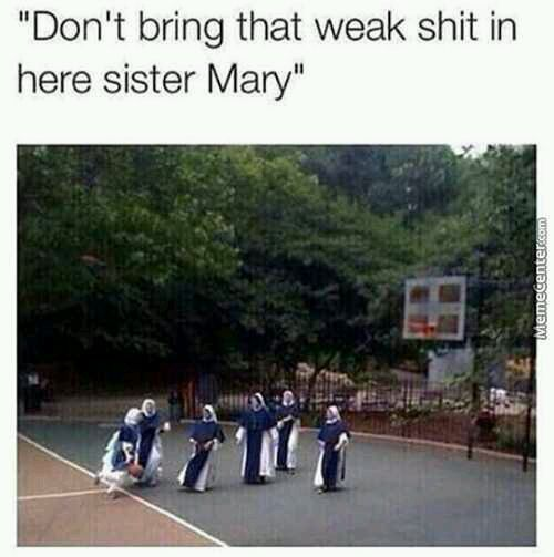 Mary is ballin - meme