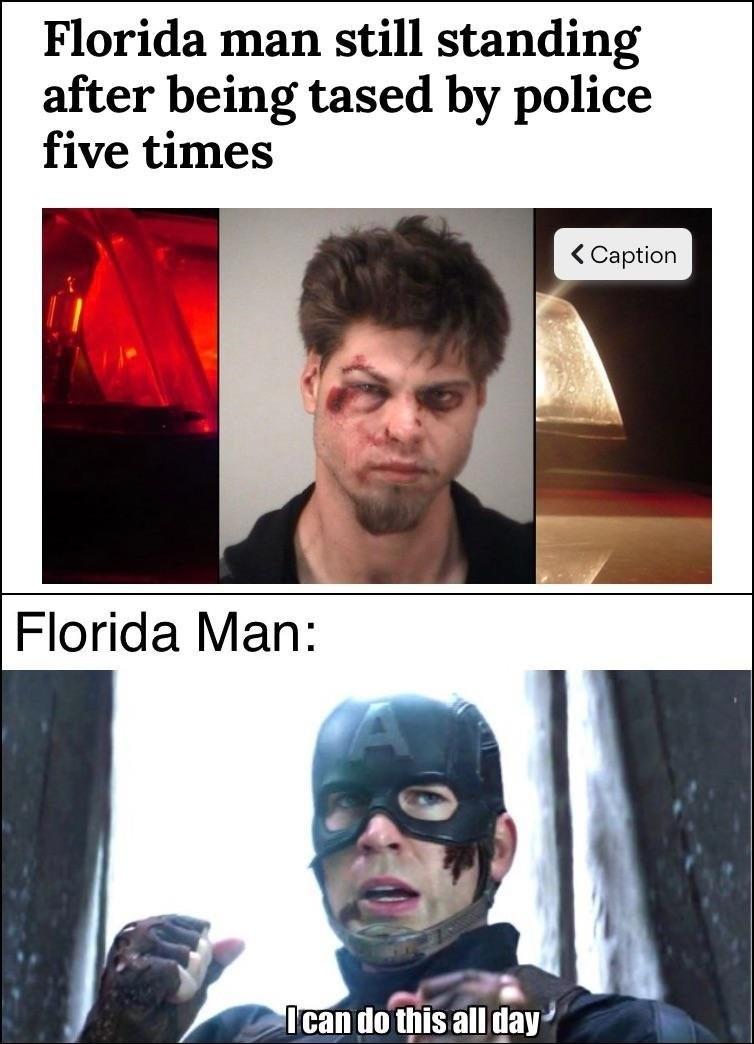 Florida man: I didn't hear no bell - meme