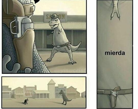Puta vida T-Rex - meme