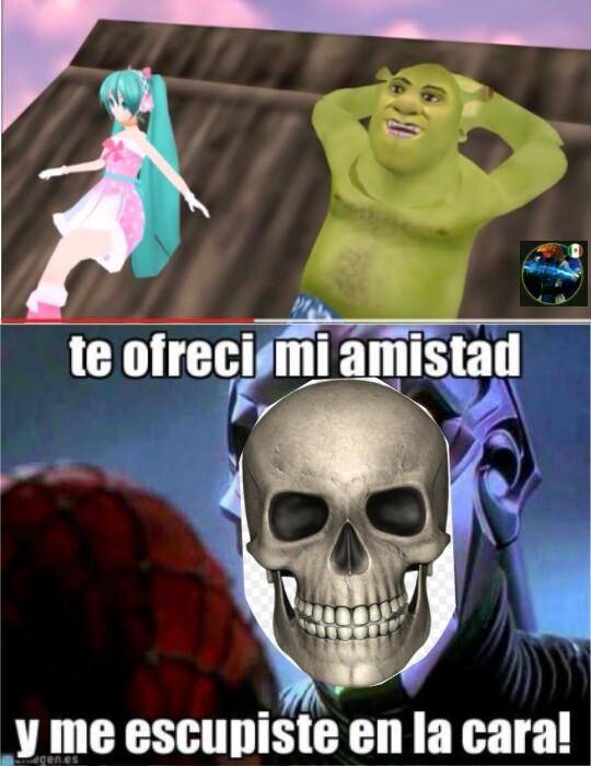 Como pudiste Shrek - meme