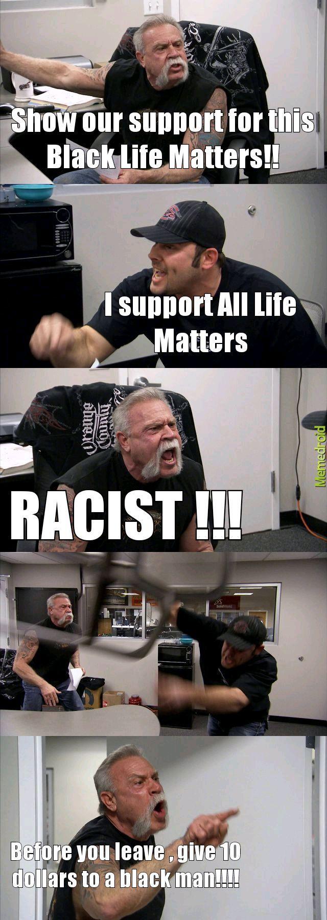 White guilt at its best - meme
