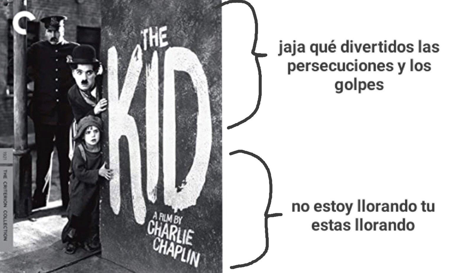 The kid de Charles Chaplin - meme