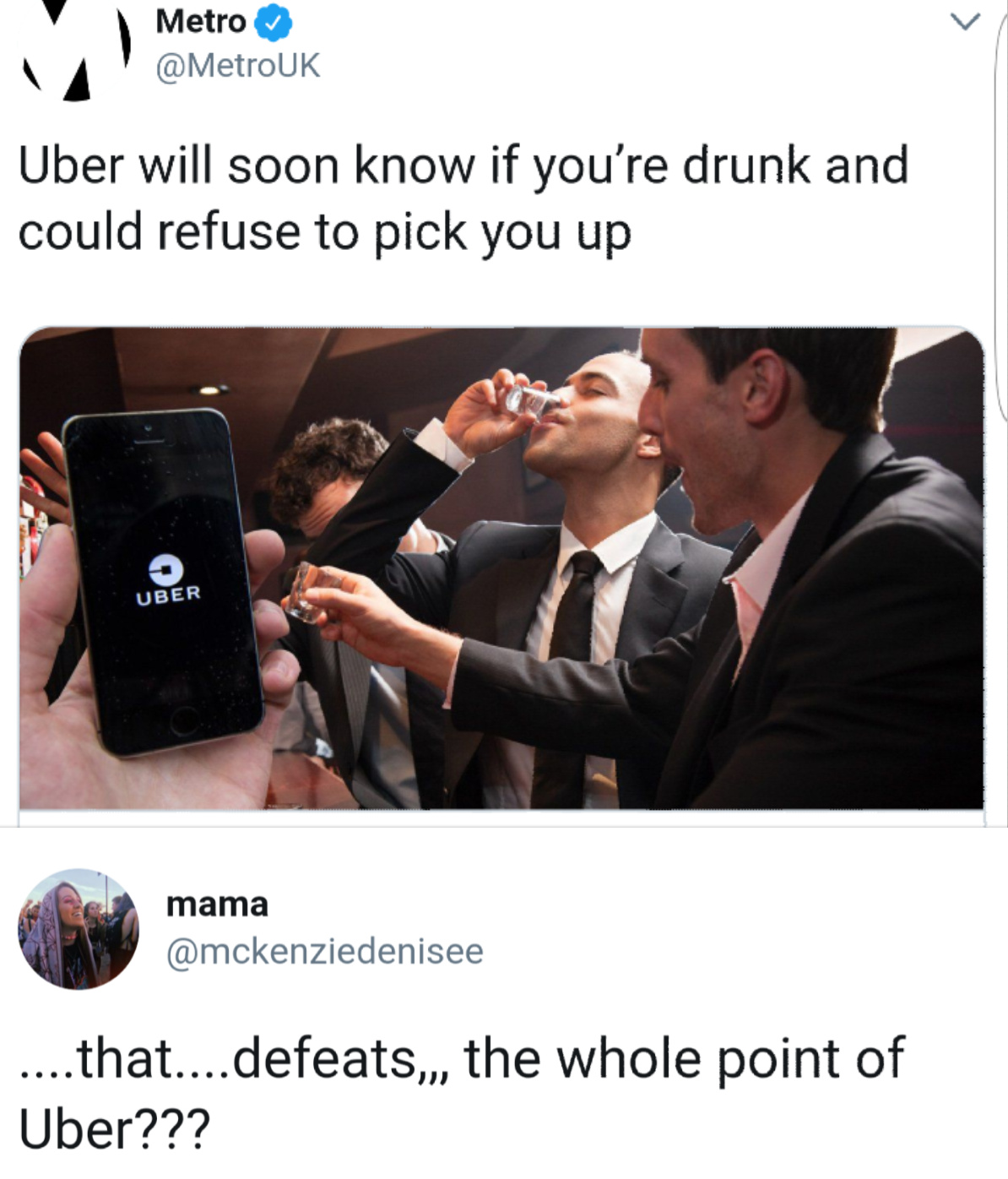 I've never used Uber - meme
