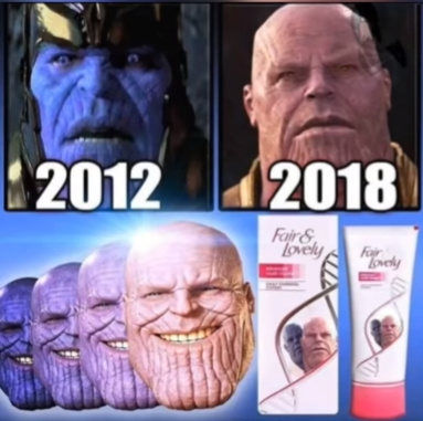 Descobrimos o segredo do Thanos!!!!! - meme