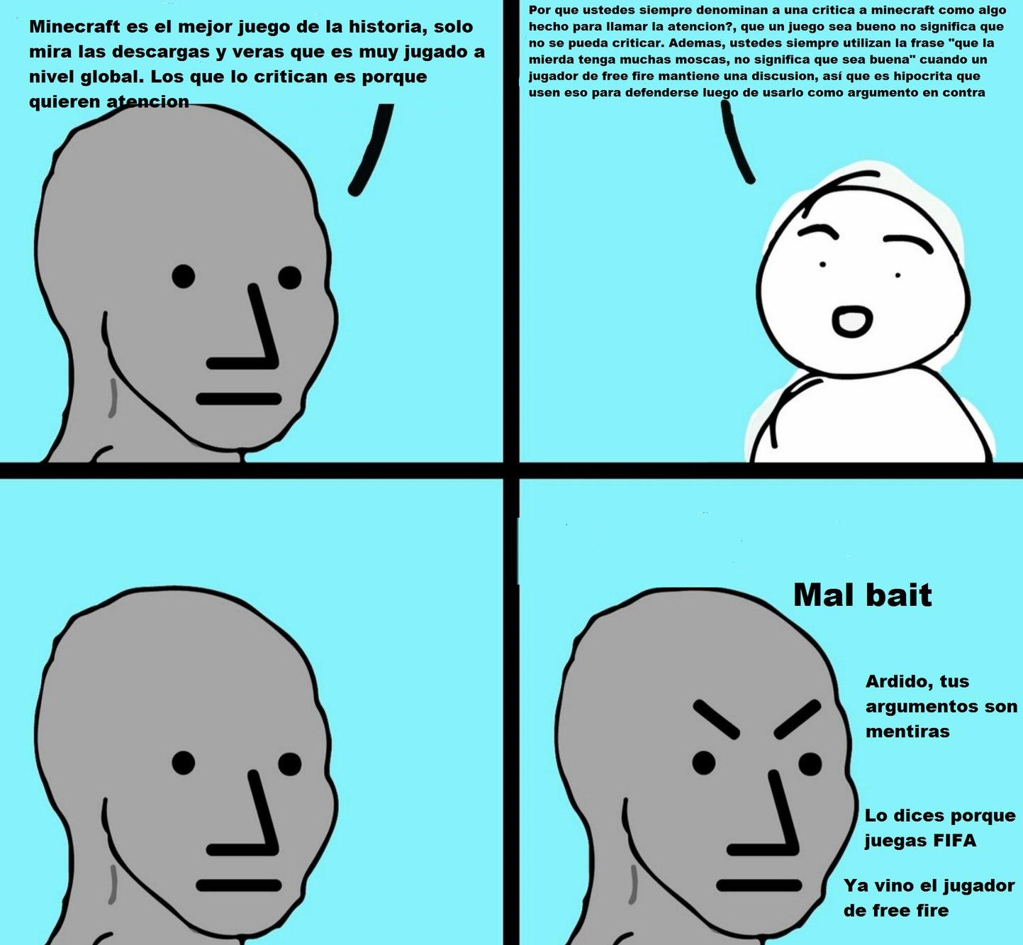 """mAinCrA Ez pArA iNTeLekTuaLeZ :haters:"" :genius: - meme"