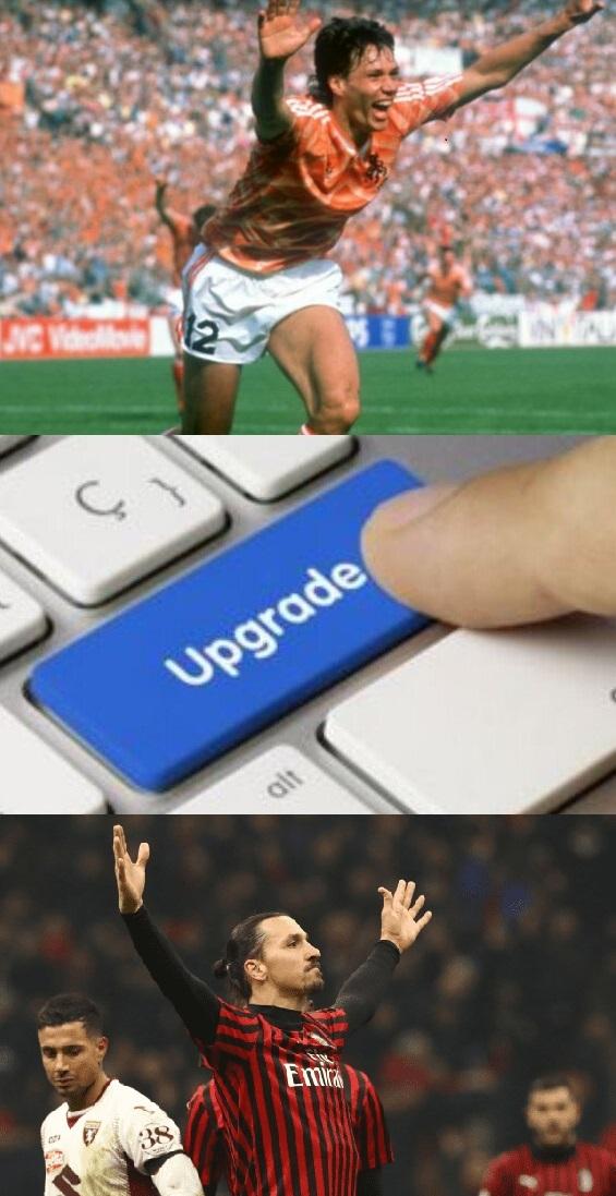 Ibra después de los 2 goles en casa del inter - van basten milan - meme